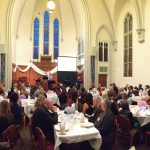 panoramic photo from barry sherbeck of dinner