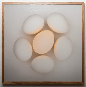 Gathered, Barry Sherbeck, Photograph on canvas, 2013, 31 x 31, Matthew 18:20, 25:32, $400