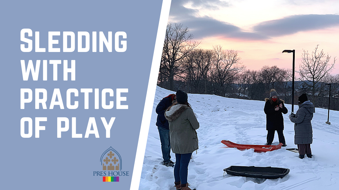 Sledding With Practice Of Play ~ Olivia Avery And Chez Phelps